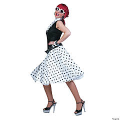 Sock Hop Skirt Scarf White Black