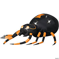 Animated Airblown Orange Spider with Turning Head
