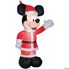 Airblown Mickey in Santa Suit