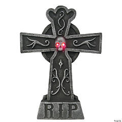 Light-Up Cross Tombstone