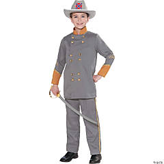 Boy's Confederate Officer Costume