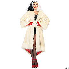 Satin-Lined Cruella Coat Costume For Women