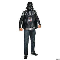 Darth Vader Shirt, Cape & Mask Costume For Men