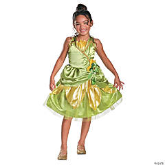 Classic Princess Tiana Sparkle Costume For Girls