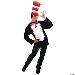 Dr. Seuss Cat In The Hat Shirt & Hat Costume For Men