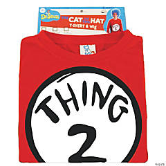 Dr. Seuss Thing 2 Costume For Men With Wig