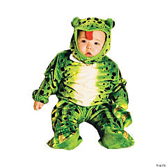 Kid's Frog Plush Green Toddler Costume