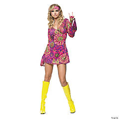 Hippie Girl Dress Costume For Women