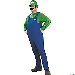 Deluxe Super Mario Luigi Costume For Men