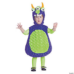 Toddler 3 Eyed Monster Costume For Kids