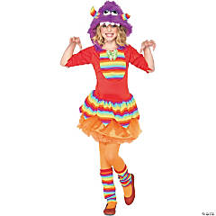 Rainbow Monster Purple Costume For Girls