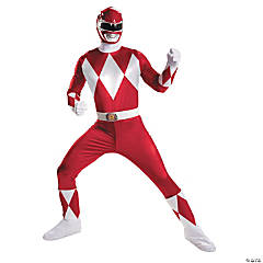 Adult Man's Super Deluxe Red Ranger Costume