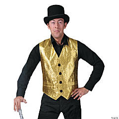 Gold Vest Costume For Men