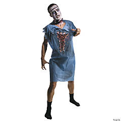 Zombie Patient Gown Costume For Adults