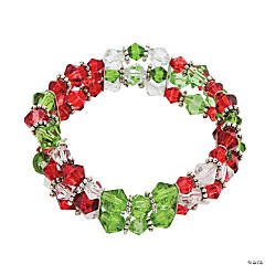 Stretchy Christmas Crystal Bracelet Idea