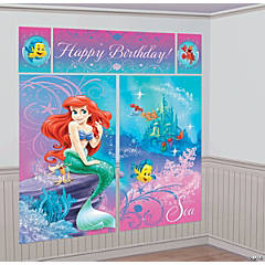 Disney's The Little Mermaid Ariel Giant Scene Setter Wall Decorating Kit