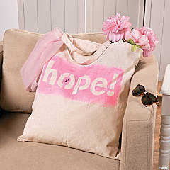 DIY Pink Ribbon Tote Bag Idea