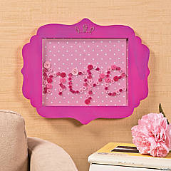 DIY Pink Ribbon Frame