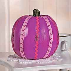 DIY Pink Ribbon Pumpkin