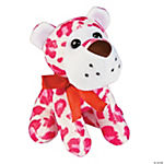 Plush Animal Print Valentine Dogs