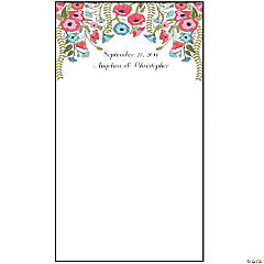 Personalized Floral Print Photo Booth Backdrop
