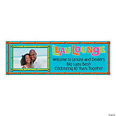 Small Luau Lounge Custom Photo Banner
