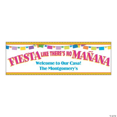 Medium Fiesta Like There's No Ma?ana Personalized Banner