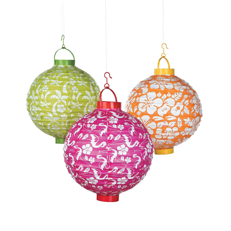 Oriental Lantern Lights Luau Light-up Paper Lanterns