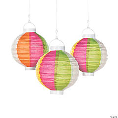 Beach Ball Light-Up Paper Lanterns