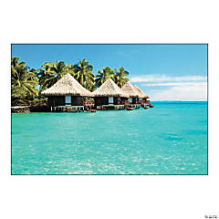 Tropical Cabana Backdrop Banner