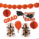 Orange Graduation Decorating Kit