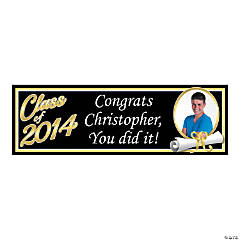 Small Class of 2014 Graduation Custom Photo Banner