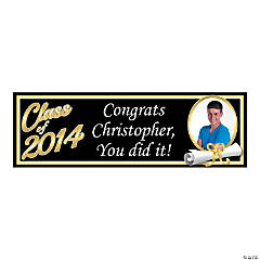 Medium Class of 2014 Graduation Custom Photo Banner