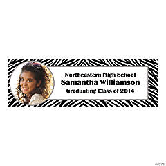Zebra Print Custom Photo Banner