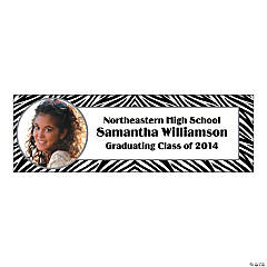 Zebra Print Small Custom Photo Banner
