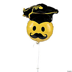 Graduation Mustache Mylar Balloon
