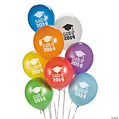 "Latex ""Class of 2014"" Graduation Balloons"