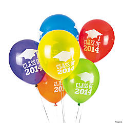 Class of 2014 Latex Graduation Balloons