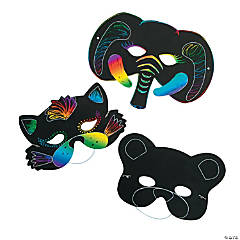 Magic Color Scratch Animal Masks