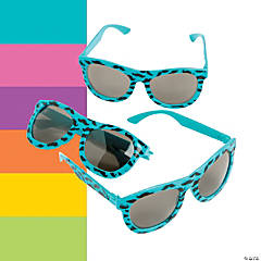 Nomad Neon Sunglasses with Mustache Print