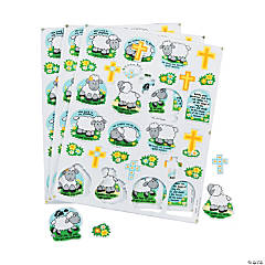Faithful Lamb Self-Adhesive Shapes