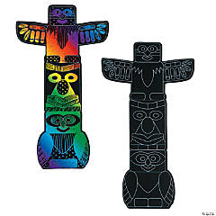 Magic Color Scratch Totem Poles