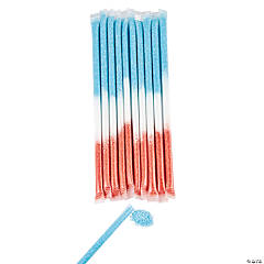 Patriotic Candy-Filled Straws