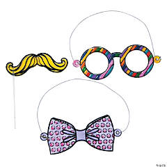 Glasses, Bow Tie & Mustache Sun Catchers