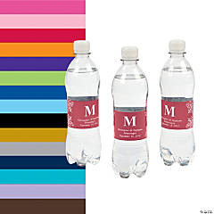 Personalized Monogram Bottle Labels