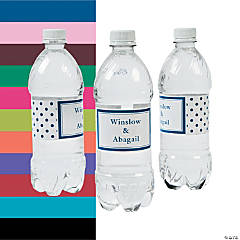 Polka Dot Personalized Water Bottle Labels