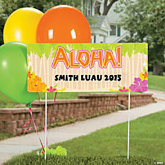 Personalized Luau Yard Sign