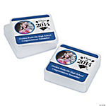 "Blue ""Class Of 2014"" Custom Photo Square Containers"