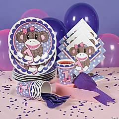 1st Birthday Sock Monkey Party Supplies