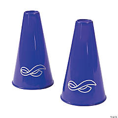 Purple Awareness Ribbon Megaphones